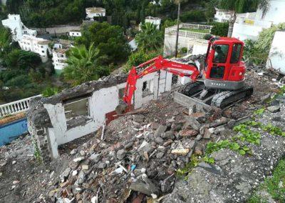 Trabajo de demolición