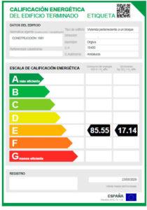 Certificado eficiencia energética, mdv construcción